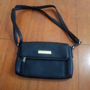 Liz Claiborne purse black gold